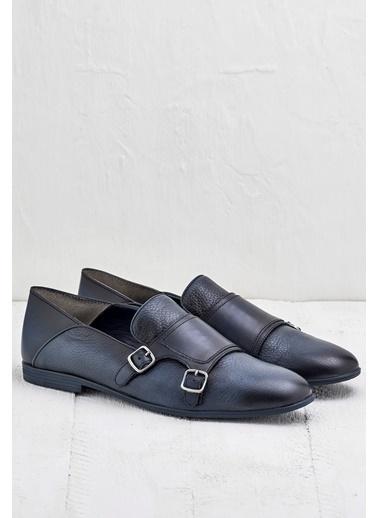 %100 Deri Loafer Ayakkabı-Elle